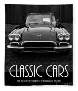 Classic Cars Front Cover Fleece Blanket