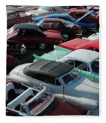 Classic Cars Fleece Blanket