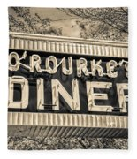 Classic Diner Neon Sign Middletown Connecticut Fleece Blanket