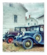 Classic Ford Model A Cars Fleece Blanket