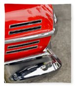 Classic Impala In Red Fleece Blanket
