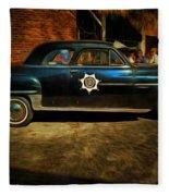 Classic Police Car Fleece Blanket
