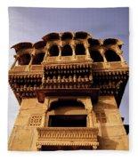 A Rajasthan Haveli Fleece Blanket