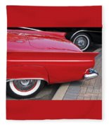 Classic Red And Black Fleece Blanket