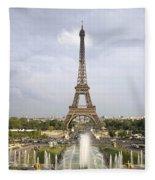 Classic View Of Paris Fleece Blanket
