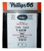 Classic Vintage Gilbarco Phillips 66 Gas Pump Dsc02751 Fleece Blanket