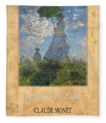 Claude Monet 1 Fleece Blanket