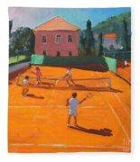 Clay Court Tennis Fleece Blanket