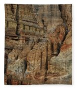 Clay Mountain Formations In Front Fleece Blanket