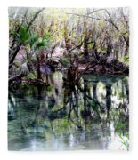 Clear Florida Springs Fleece Blanket