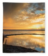 Clearing Rainstorm Fleece Blanket