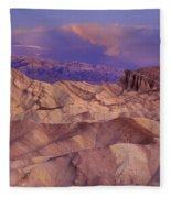 Clearing Sunrise Storm Zabriske Point Death Valley National Park California Fleece Blanket