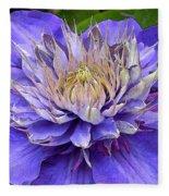 Clematis Blue Fleece Blanket