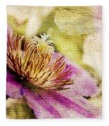 Clematis Closeup Fleece Blanket