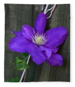 Clematis On A String Fleece Blanket