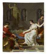 Cleopatra And Octavian Fleece Blanket