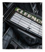 Clermont Hotel Fleece Blanket