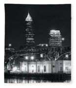 Cleveland Black Night Fleece Blanket