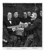 Cleveland Cabinet, 1893 Fleece Blanket