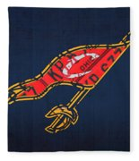 Cleveland Cavaliers Nba Team Retro Logo Vintage Recycled License Plate Art Fleece Blanket