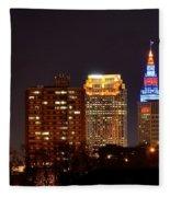 Cleveland Cityscape Fleece Blanket