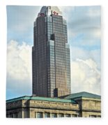Cleveland Key Bank Building Fleece Blanket