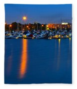 Cleveland Ohio Skyline Fleece Blanket