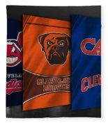 Cleveland Sports Teams Fleece Blanket