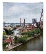 Cleveland West Bank Fleece Blanket