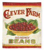 Clever Farms Beans Fleece Blanket