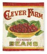 Clever Farms Beans Fleece Blanket