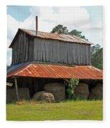 Clewis Family Tobacco Barn Fleece Blanket