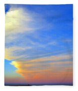 Click #5 From A Rest Stop On The Chesapeake Bay Bridge Tunnel Fleece Blanket