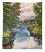Cliff Falls Fleece Blanket