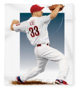 Cliff Lee Fleece Blanket