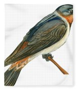 Cliff Swallow  Fleece Blanket