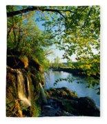 Cliffs And Trees Along Malanaphy Fleece Blanket