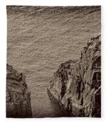 Cliffs At Bonavista Fleece Blanket
