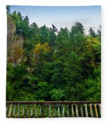 Cliffs High Above Road Fleece Blanket