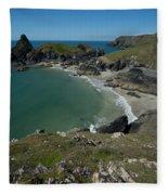 Cliffs In Bretagne Fleece Blanket