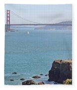 Cliffs Near Golden Gate Bridge Fleece Blanket