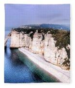Cliffs Of Etretat 1 Fleece Blanket