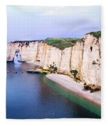 Cliffs Of Etretat 3 Fleece Blanket