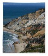 Cliffs Of Gay Head At Aquinnah Fleece Blanket