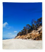 Cliffs On A Sunny Beach Fleece Blanket