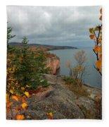 Cliffside Fall Splendor Fleece Blanket
