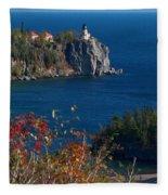 Cliffside Scenic Vista Fleece Blanket