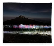 Climbers Trace Ghostly Shapes Fleece Blanket