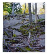 Climbing The Rocks Of Bald Mountain Fleece Blanket