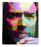 Clint Eastwood - Abstract Fleece Blanket